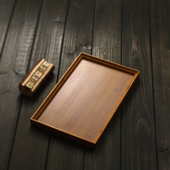 Harga Cloud on the cloud bamboo flat tray Medium and Small TEA sea tea sets Bamboo Tea sea rectangular tray Bamboo Tea tray