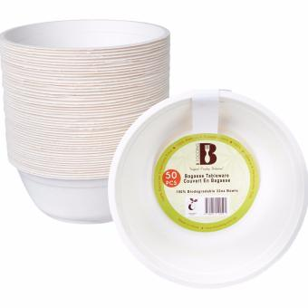 BFOODING Biodegradable Bagasse Bowl -32oz Disposable Tableware