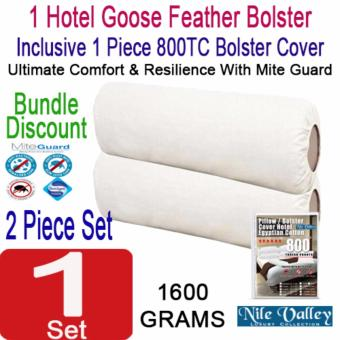 Harga Nile Valley's 5 Star Hotel Goose Feather Bolster 1600g. Inclusive 1 Egyptian Bolster Covers