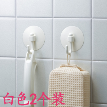 Harga Japan lec bathroom plastic suction wall hook suction cup hook towel rack 2 pcs