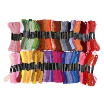 100 Colors Embroidery Thread Hand Cross Stitch Floss Sewing Skeins Craft - intl