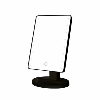 Harga LED Touch Screen Makeup Mirror Professional Vanity Mirror With 16/22 LED Lights Health Beauty Adjustable Countertop 180 Rotating - intl