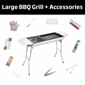 Harga Deluxe Foldable BBQ Grill + accessories | Complete BBQ Pack