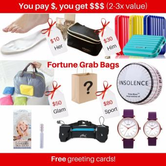 Harga Fukuburoko Shoppy Fortune Grab Bag/ Surprise / Mystery Gift Worths least $30 - For a sporty you