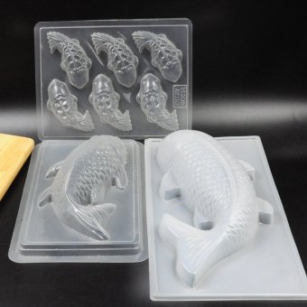 Harga Chocolate pp mould chocolate mold 6 even in cantonese fish cake mold cake mold