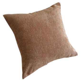 "Corduroy Soft Decorative Pillow Case Cushion Cover Square 17"" x 17 Brown"