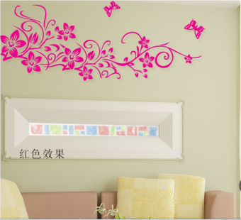 Harga Living room tv background decorative wall sticker flower vine creative personality bedroom bedside wall stickers wallpaper paste adhesive
