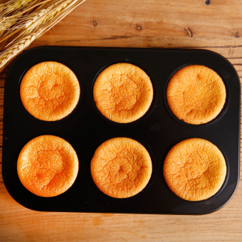 Harga Baking mold muffin cake tray baking mold six round nonstick cake mold 6 even 12 even die baking tray