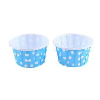 Harga 100pcs Paper Cupcake Liner Wrapper Muffin Baking Cup for Party Blue - intl