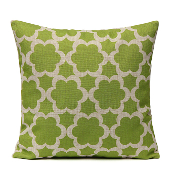 Harga Geometry Nature Green Cotton Linen Home Decor Throw Pillow Case Cushion Cover