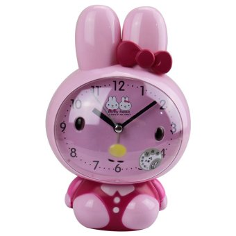 Harga Cartoon alarm clock mute creative children's bedroom bedside alarm clock students cute talking alarm clock with night light voice