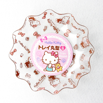 Harga Japan lec hello kitty cute creative household round snack dish fruit plate salad plate
