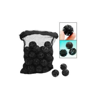 Harga 50pcs Aquarium Fish Tank Filter Bio Balls Bio-Balls with Mesh Pouch Bag Black