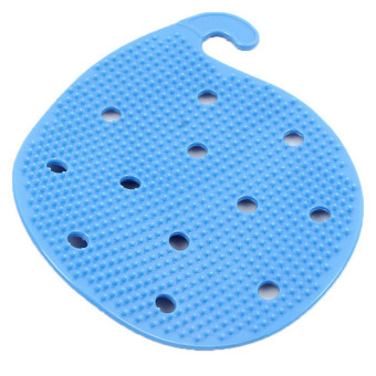 Harga Hang-Qiao Cleaning Fruits Vegetables Scrubber Brush Blue