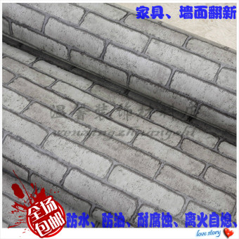 Harga PVC gray color restaurant coffee shop stickers Wallpaper