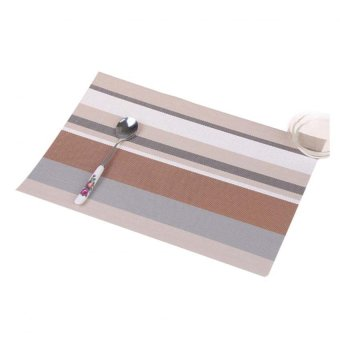 Harga Amart Fashion Coaster Stripe Pvc Plastic PlaceMats