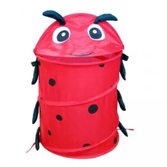Harga PAlight Cute Foldable Kids Toy Storage Hamper (Red Worm)