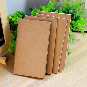 Harga Kraft Cover Weekly Plan Notebook Paper Memo Diary Work-book Office Stationery 210*142A5 - intl