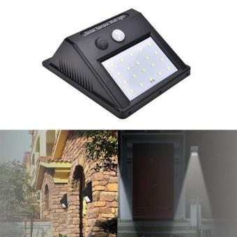 BUYINCOINS New 20 LED Waterproof Motion Sensor Solar Power Wall Light Outdoor Security Lamp Security - intl