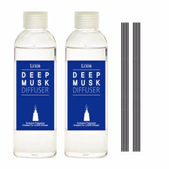 Luxor Aroma Reed Diffuser Deep Musk 200ml 2 Refill Bottles + 10 Reed Sticks - intl Price in Singapore