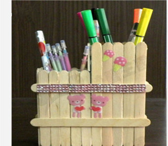 Harga New 200Pcs Wooden Popsicle Stick Kids Hand Crafts Art Ice Cream Lolly Cake DIY Making