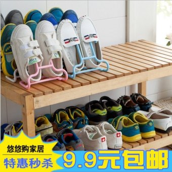 Harga Creative space saving children's shoe can be hung vertical multifunctional stereo dust shoe storage shoe rack
