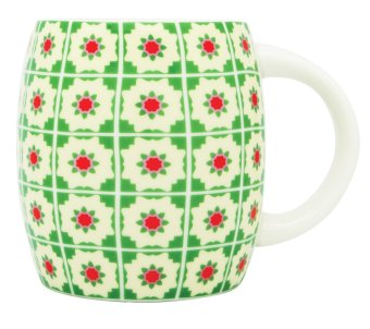 Harga Now and Then Ceramic Mug Peranakan Tiles NTCM09 (Green)