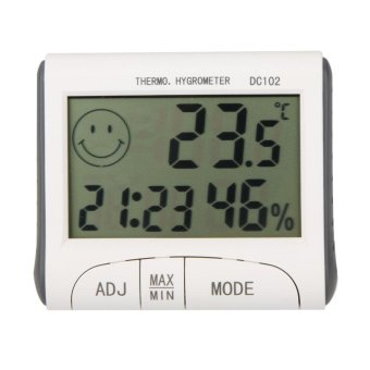 Harga LCD Digital Temperature Humidity Meter Clock w/ Magnetic - intl