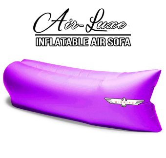 Harga Winning AIR-LUXE High Quality 100% Waterproof Parachute Nylon Air sofa/bed/couch. Compact Light & Portable (Purple)