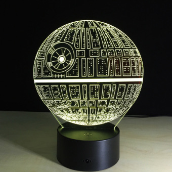 Harga Multi-colored Death Star Table Lamp 3D Death Star Bulbing Light for Star Wars Fans