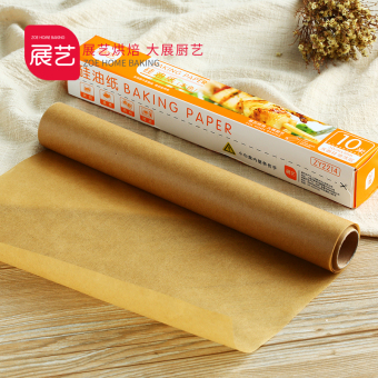 Harga Art exhibition silicone oil paper food cake West Point wood pulp oil on paper oven barbecue aluminum foil baking tools 10 m