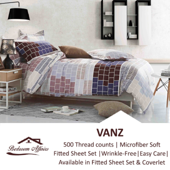 Harga MICROFINE Vanz Fitted Sheet Set