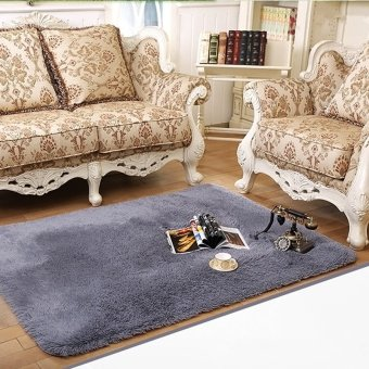 Novel Shaggy Livingroom Ivory Carpet Mat Flokati Dining Artificial Wool Rug  Pad U2013 Grey