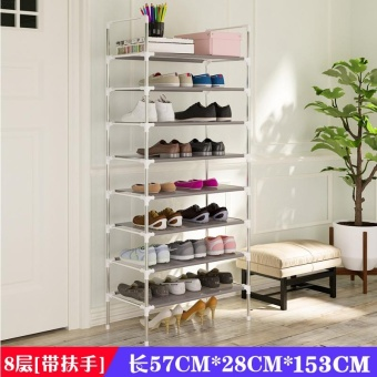 RuYiYu - Amazing Utility Shoes Rack, Stainless Steel Shoe Storage Organizer Cabinet Tower, Heavy-Duty and EASY TO ASSEMBLE,4-10 Layer - intl