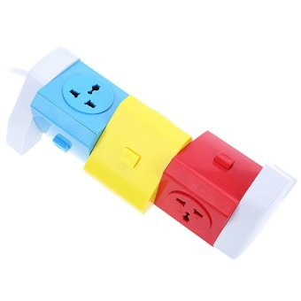 Alardor ALD-3W6K-L 180 Degree Rotating Horizontal Socket EU PLUG (Colorful)--TC