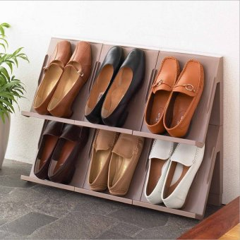 Harga Japan imported storage stackable shoe rack shoe rack creative fashion vertical style shoe storage tray