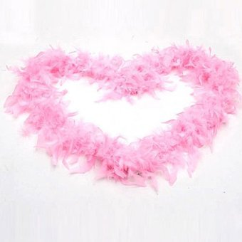 Harga Okdeals Wedding Party Flower 2M Feather Boa Fluffy Craft Costume Dressup Decor Pink
