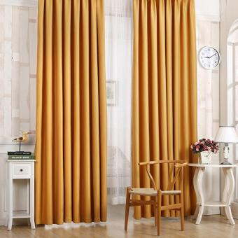 Harga Blackout Thermal Solid Window Curtain Yellow