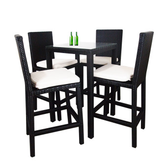 Harga Arena Living Midas 4 Chair Bar Set White Cushion