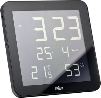 Harga Braun BNC014BKBK Digital Wall Clock (Black)