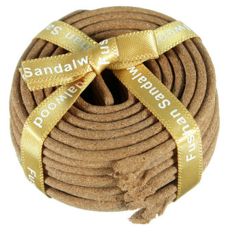 S & F Laoshan Sandalwood Incense Coils Natural Sandal Wood Sandalwood Coil Incense 36pcs