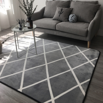 Harga Nordic modern japanese minimalist geometric black and white gray carpet living room coffee table mats rectangle large carpet fuzz
