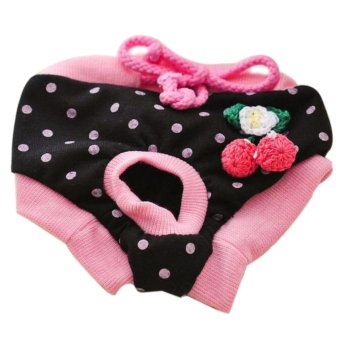 Harga Pet Dog Puppy Diaper Pants Physiological Sanitary Short Panty Nappy Underwear Black S