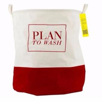 Harga ( Plan to wash: Red) Fabric Laundry Basket