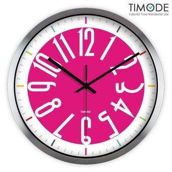 Harga Timode excellent simple mute wall clock pocket watch quartz clock art clock fashion decoration pink wedding