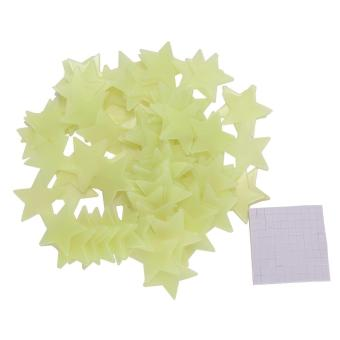 Harga 100pcs Home Wall Light Green Glow In The Dark Star Stickers Decal Baby Room - intl