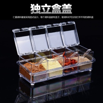 Seasoning bottles kitchen supplies seasoning bottle seasoning box salt shaker seasoning cans seasoning tank material box set seasoning box