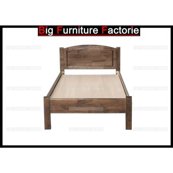 Harga BFF211-WB Solid Wooden Bed (Copper) – Single
