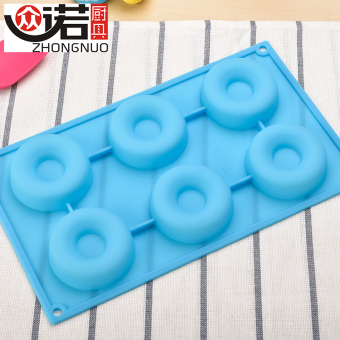 Harga 6 even donuts home made cake biscuit mould diy ice lattice mold silicone bakeware oven temperature