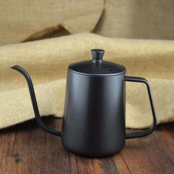 Harga 600ML Stainless Steel Teflon Pouring Kettle & Coffee Server Long Narrow Spout Drip Coffee Pot - intl